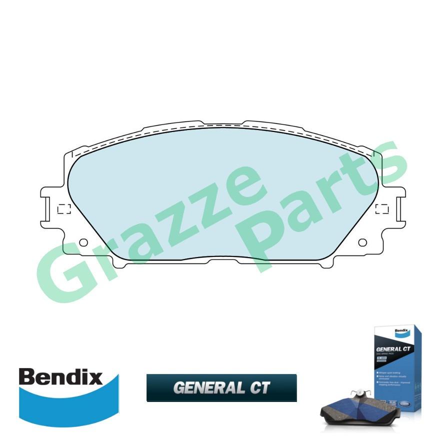 Bendix General CT Brake Pad Front DB1820 - Perodua Alza 2014 Toyota Vios NCP93 J/E Spec (Rear Drum)
