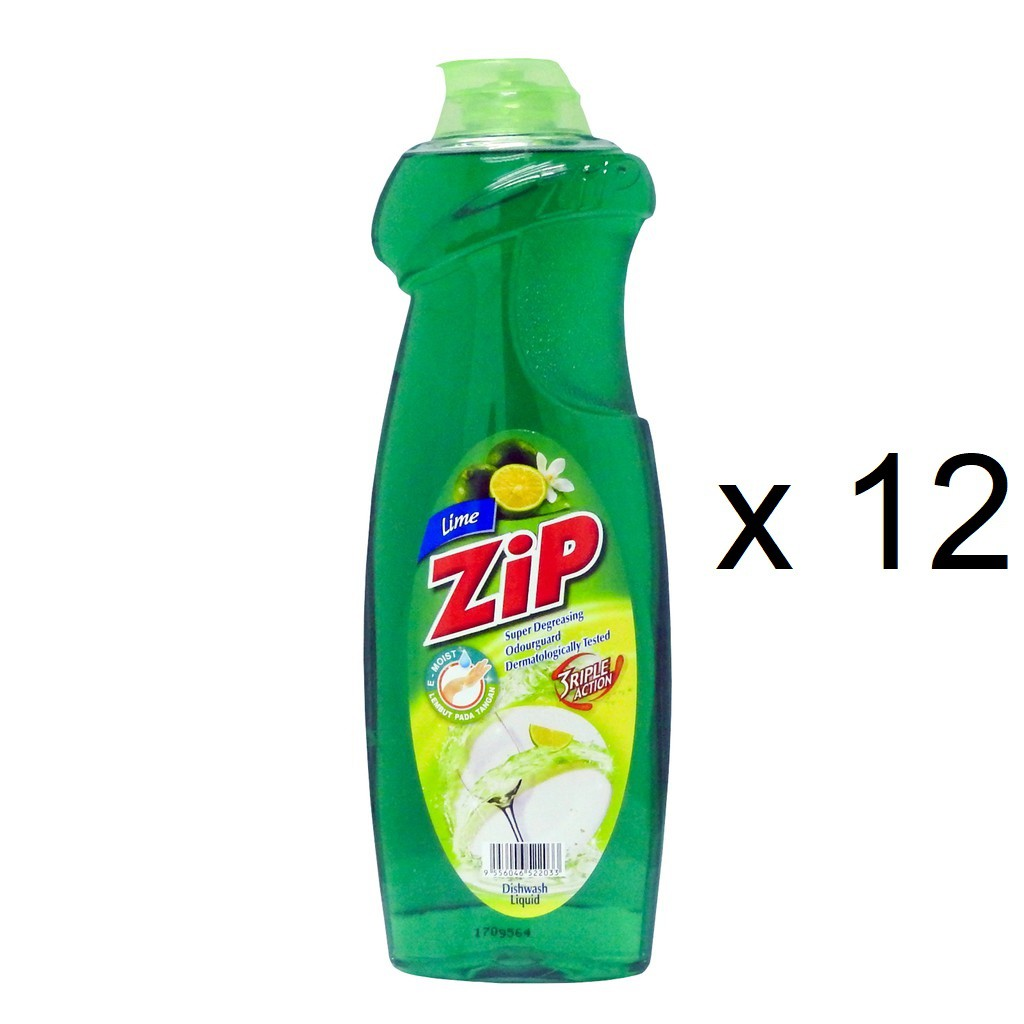 Zip Dishwash Liquid Lime (900ml x 12)