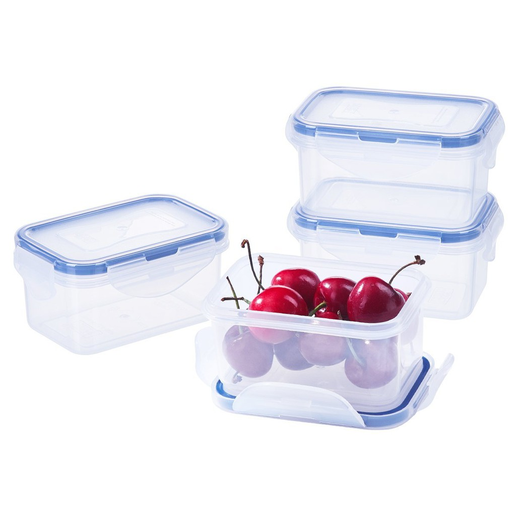 2 Pack Plastic Food Containers with Lids, Baby Food Box Lunch Box 180ML