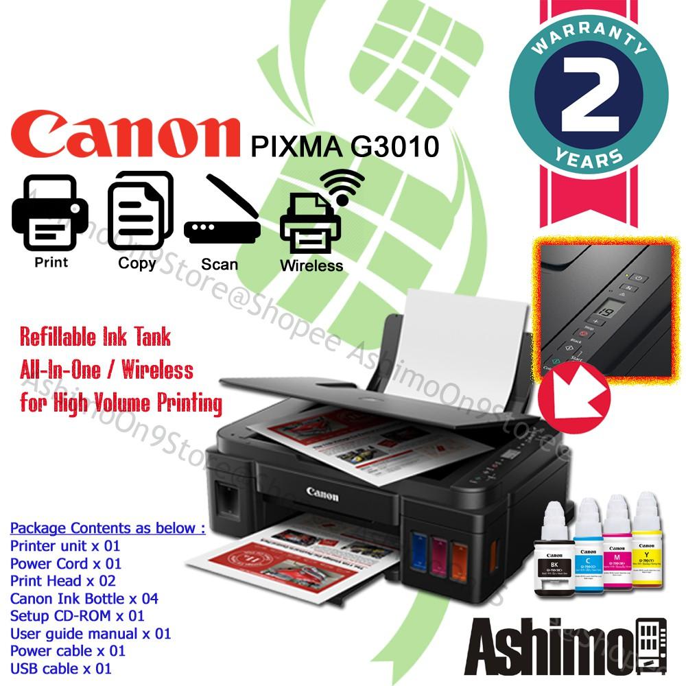 Canon Pixma G3010 3in1 Inkjet Printer with Hybrid Ink