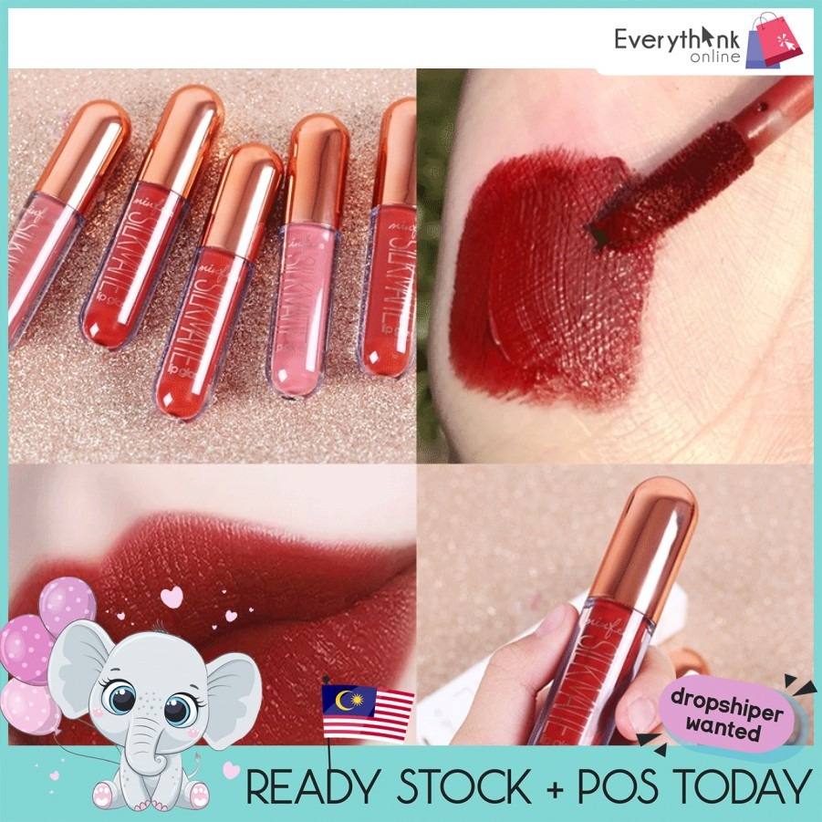 MINFEI VELVET VIVID MATTE LIP GLAZE LONG LASTING LIP GLOSS LIPS MOISTURIZING 5 COLOURS CS303 LIPSTICK WATERPROOF