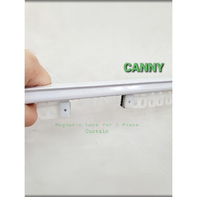 Aluminium Curtain Rail with Hanger Extendable Size / Rail Langsir Aluminium Pelbagai Size