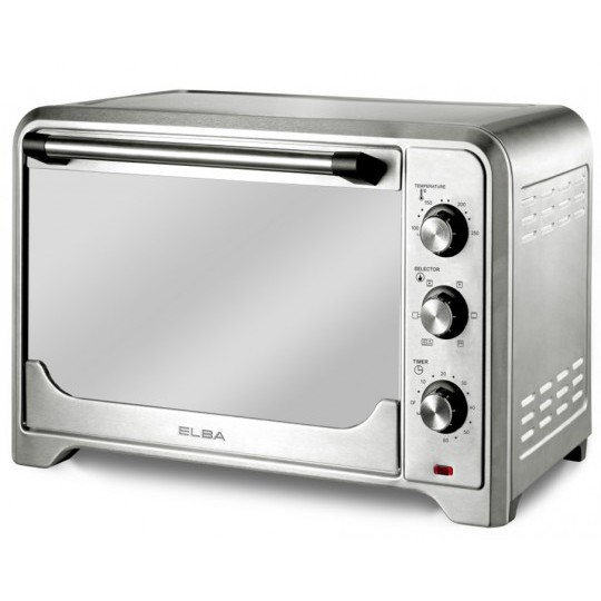 Elba Big 60 Litre Electric Oven EEO-E6090(SS) With Stylish Mirror Glass Door