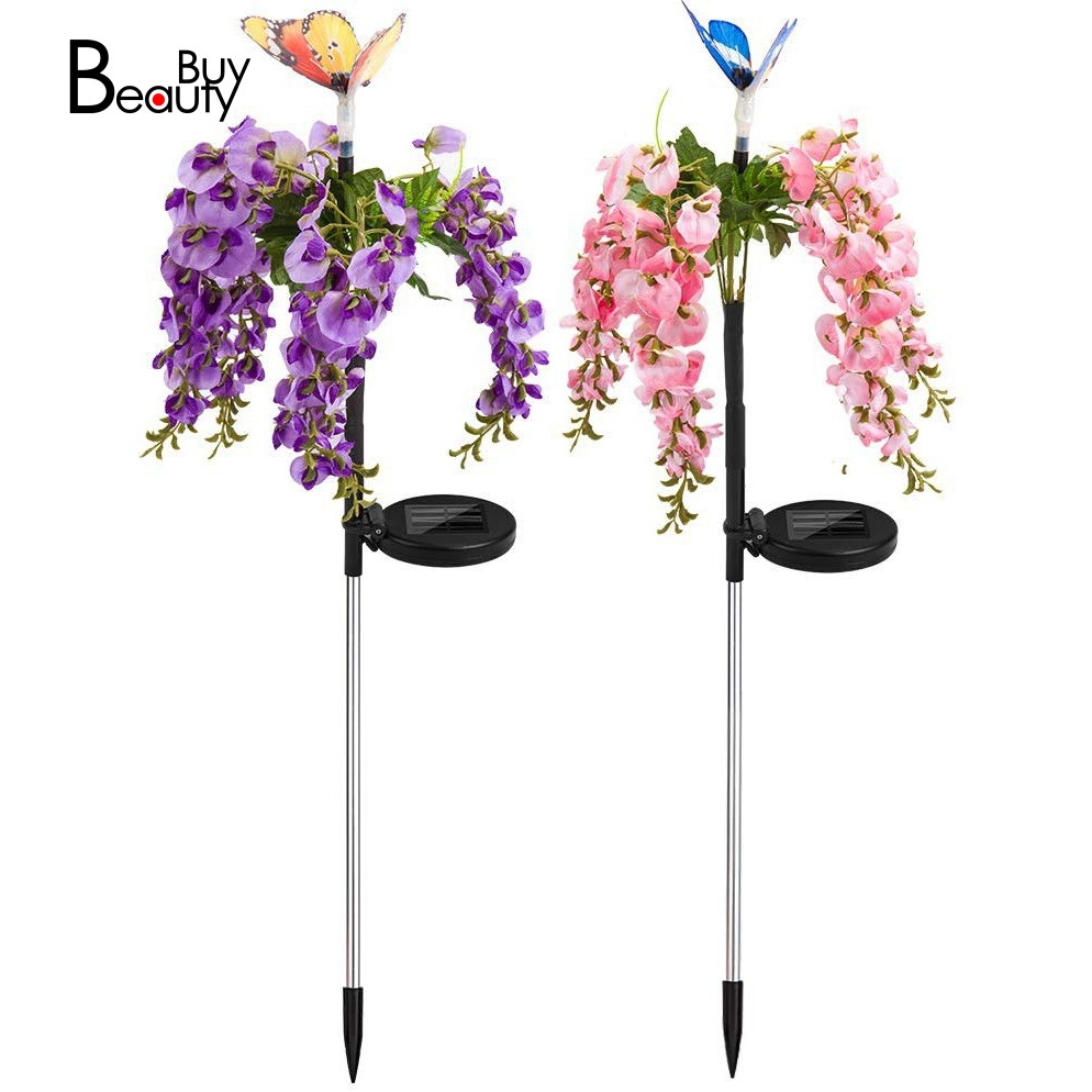 Hot Sale 2 Pcs Solar Garden Lights Outdoor Christmas Butterfly Led Solar Powered Landscape Lights For Pathway Yard Patio Deck Walkway Decoration Shopee Malaysia