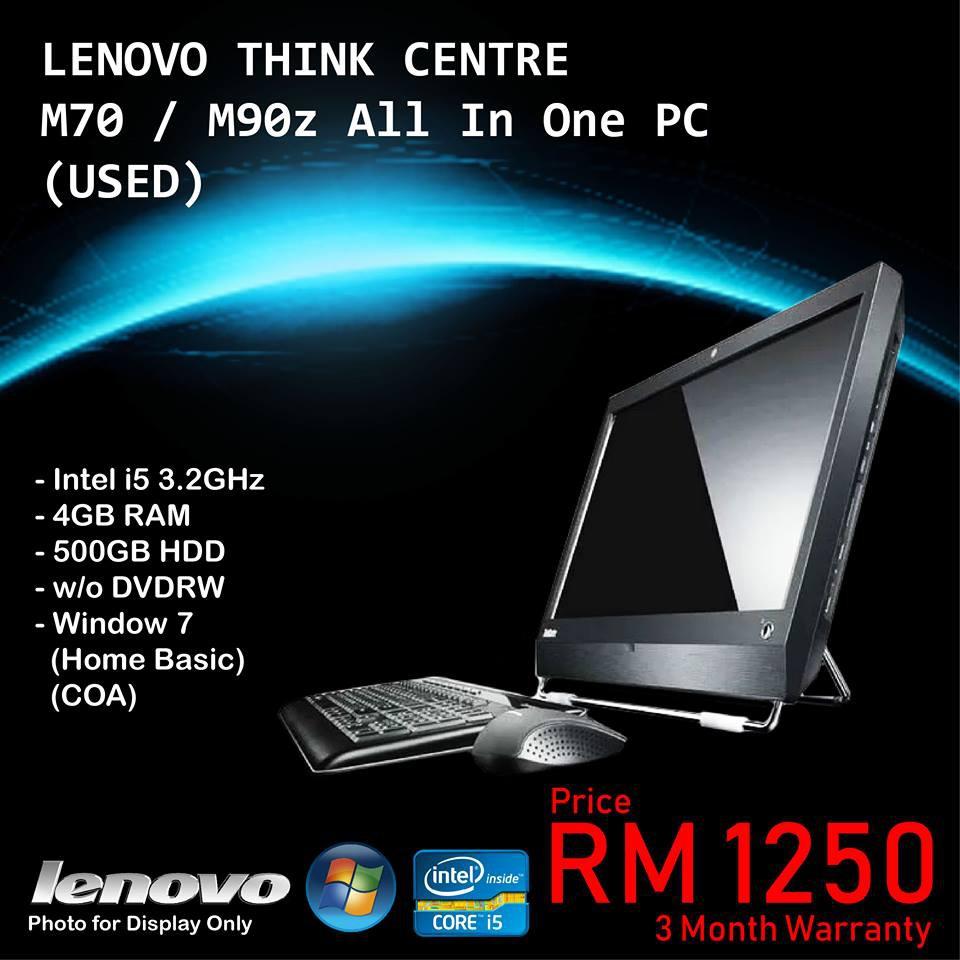 (REFURBISH) ALL IN ONE LENOVO THINK CENTER M70/M90z PC/DESKTOP/COMPUTER