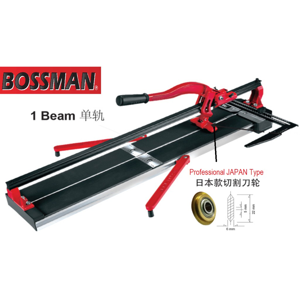 BOSSMAN B31000 Manual Tile Cutter 1000MM Professional Scoring Wheel Single Rail