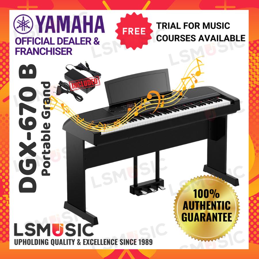 Piano Yamaha Digital Piano DGX670 B (DGX670B / DGX-670B) electronic keyboard piano