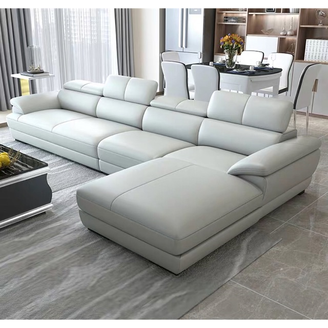 L Shape First Layer Cowhide Leather, L Shape Sofas Leather