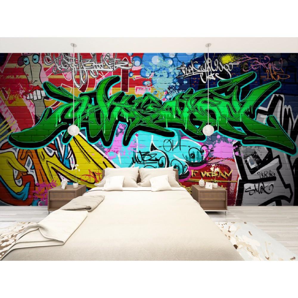 Custom Wallpaper 3D Abstract Fashion Graffiti Art Wall Mural Wall Sticker Poster