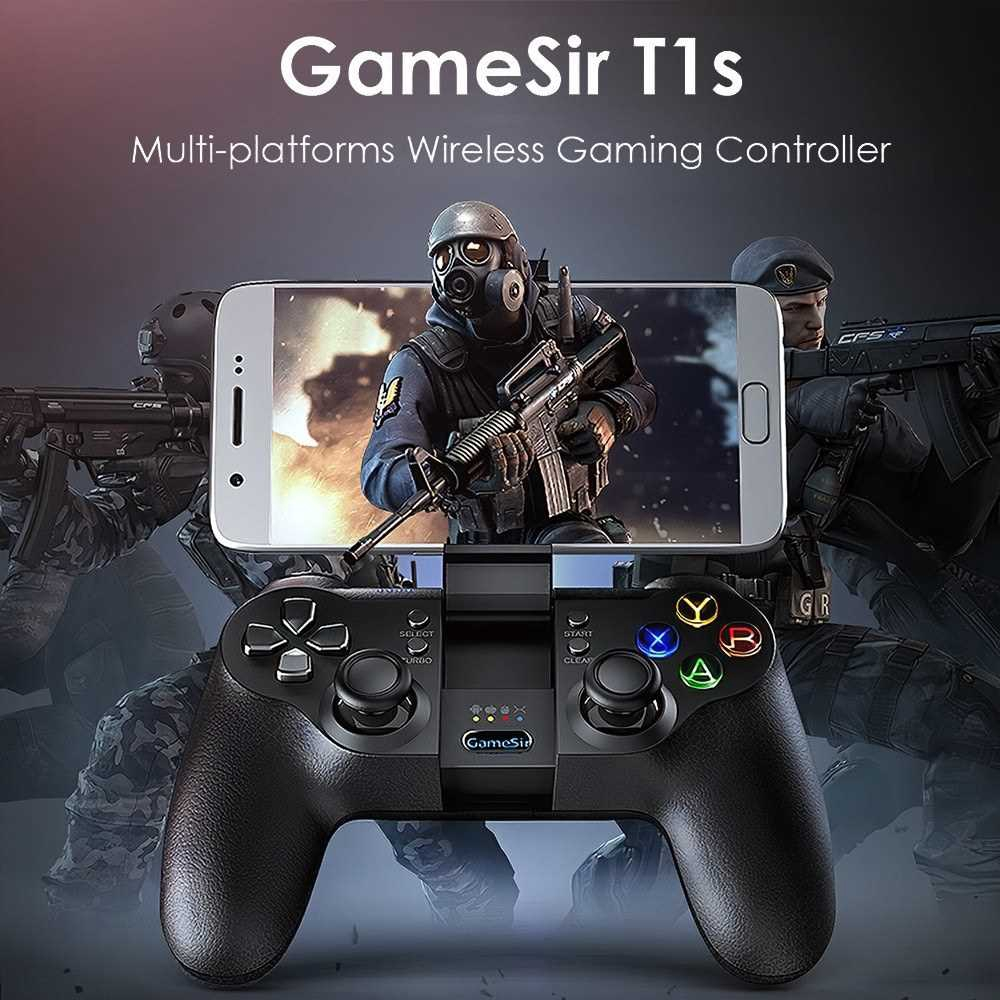 GameSir T1s Gaming Controller 2.4G Wireless Gamepad for DJI Tello Drone Android iOS Smartphone Tablet PC Windows Steam