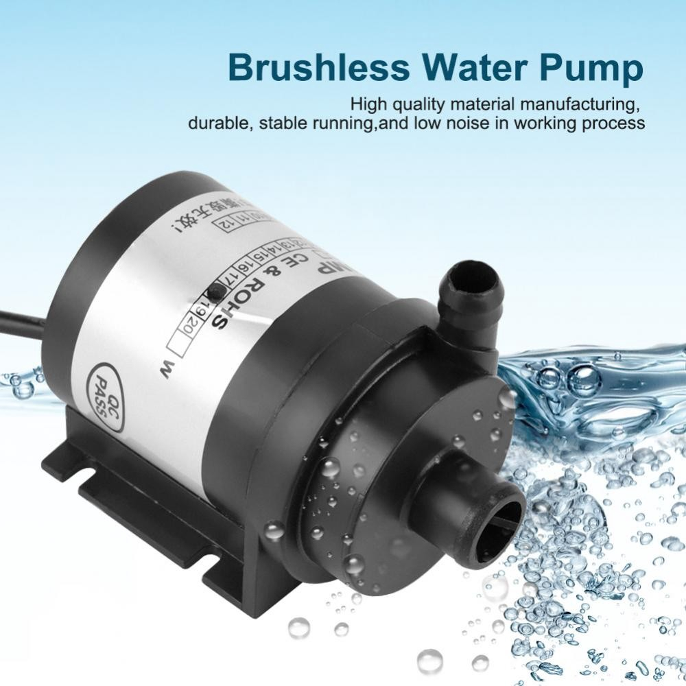 Water Pump 24V10W Black High Temperature Resistance Circulation Low Noise Brushless Water Pump