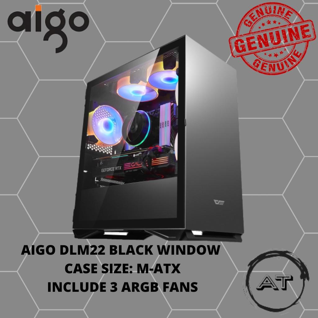 AIGO DLM22 BLACK WINDOW TEMPERED GLASS (3 FANS)
