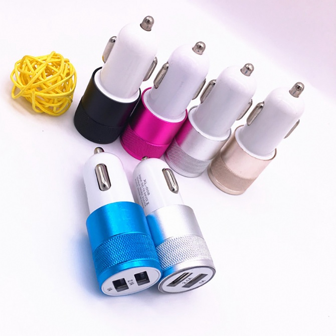 2.1A 1A Dual USB Car Charger Fast Charging 2 USB ports Samsung Xiaomi Apple Huawei Oppo Vivo