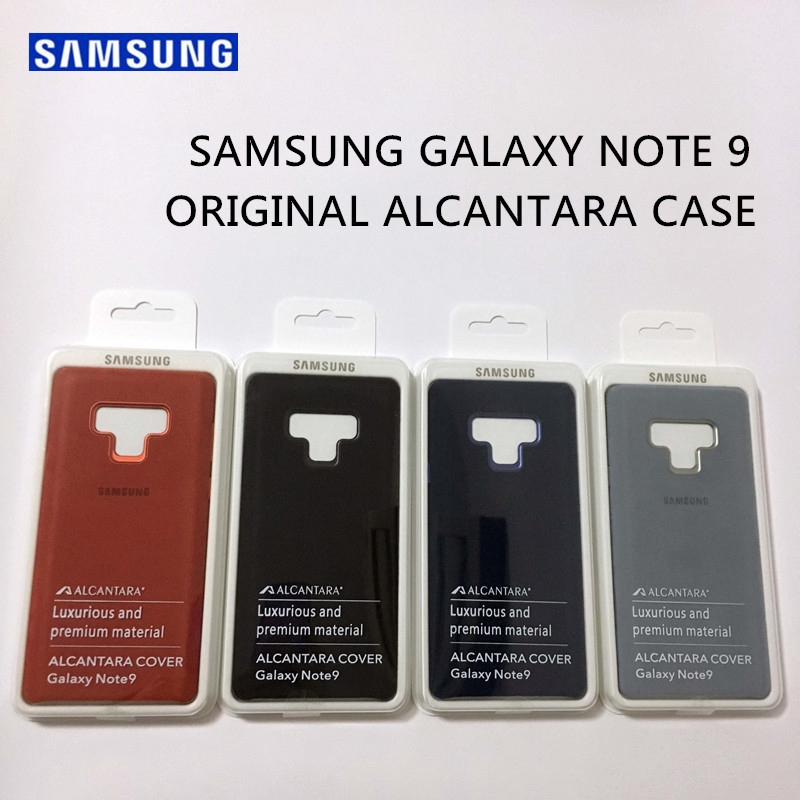 Original Samsung Galaxy Note 9 Leather Alcantara Case Suede Protection Cover