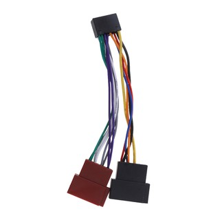 16 Pin ISO Wiring Harness Adaptor Car Stereo Radio Loom for Kenwood Jvc Car Stereo Wiring Harness Adapter on