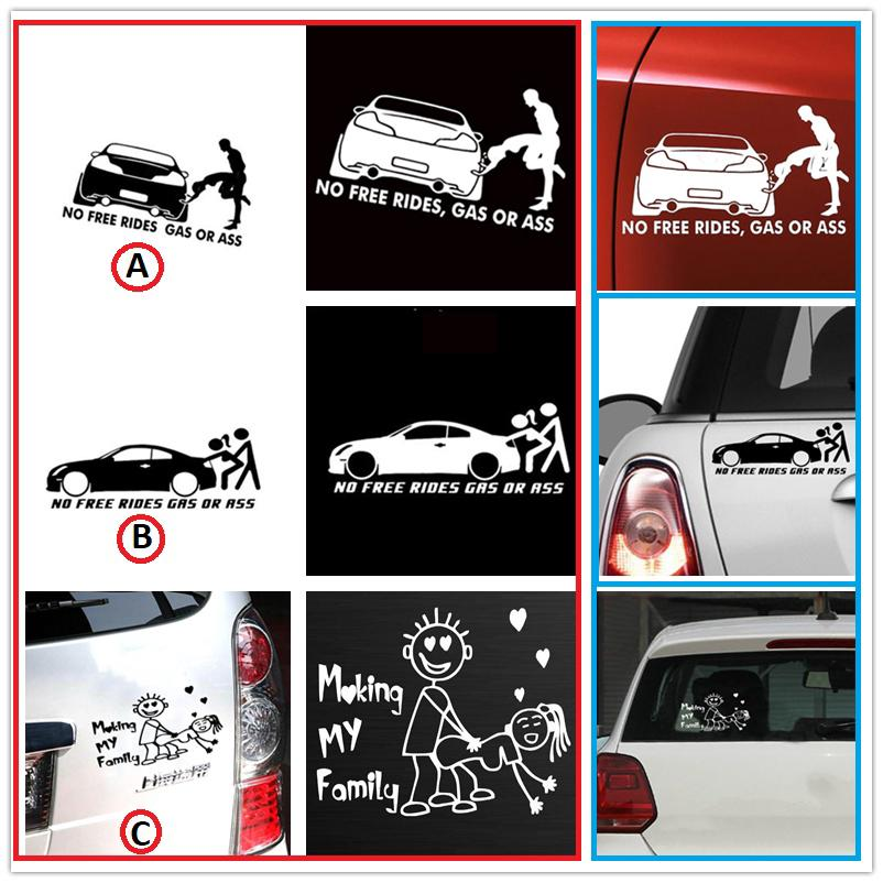 No Free Rides Gas Or *** Car Decal Vinyl Sticker Funny For Window Bumper Panel