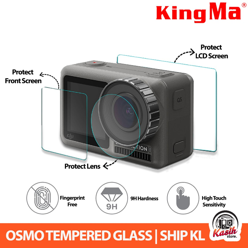 9H Tempered Glass Screen Lens Protective Film for DJI OSMO ACTION Sports Camera