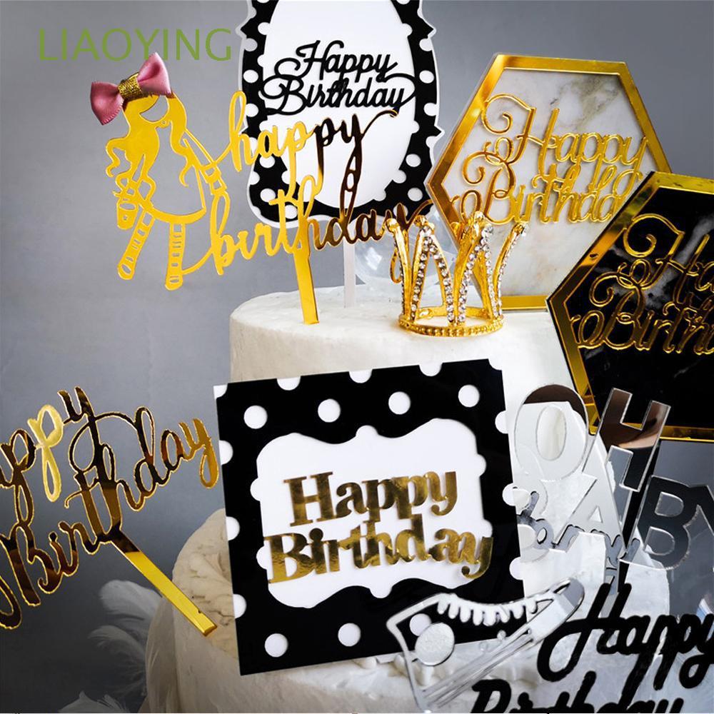 Wedding Decoration Happy Birthday Party Supplies Acrylic Decor Cake Topper