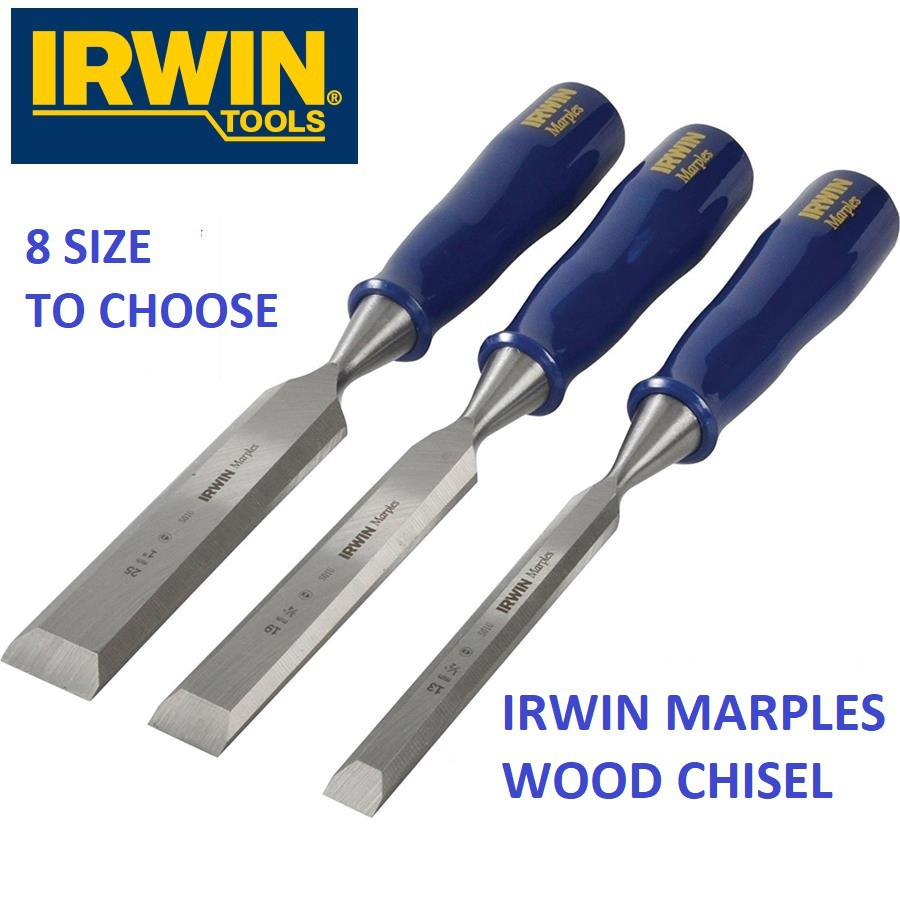 "IRWIN MARPLES M444 BEVEL EDGE WOOD CHISEL,1/4""-1-1/2""  M444 CHISELING WOOD CUTTING"