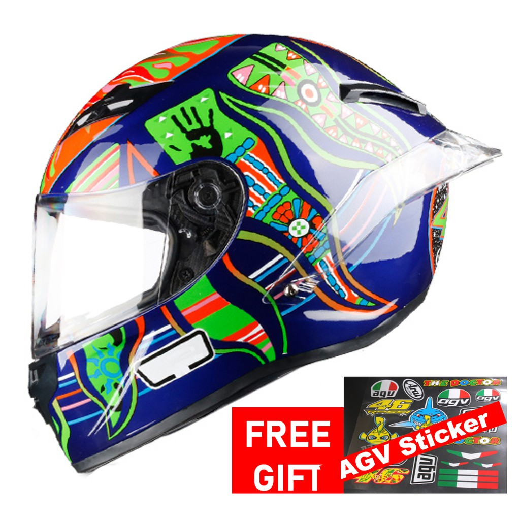 Agv Rossi Mugello 2017 Full Face Motorcycle Helmet Raod Capacetes Motociclista