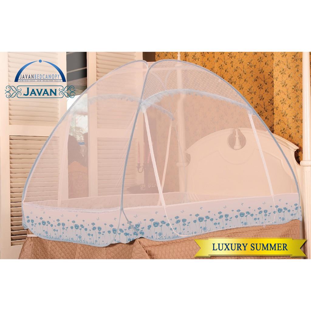 - Javan Bed Canopy Bed - Luxury Summer Queen Size 160x200 Cm
