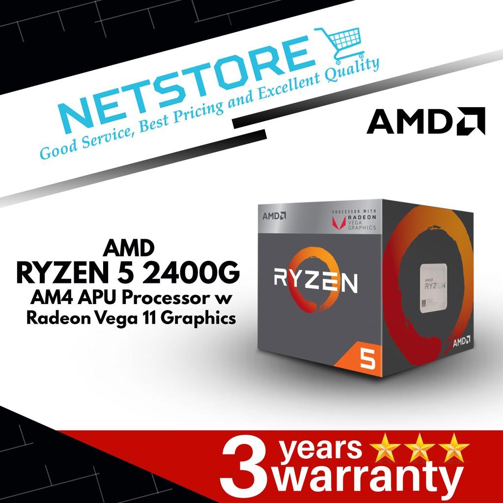AMD Ryzen 5 2400G AM4 APU Processor with Radeon Vega 11 Graphics