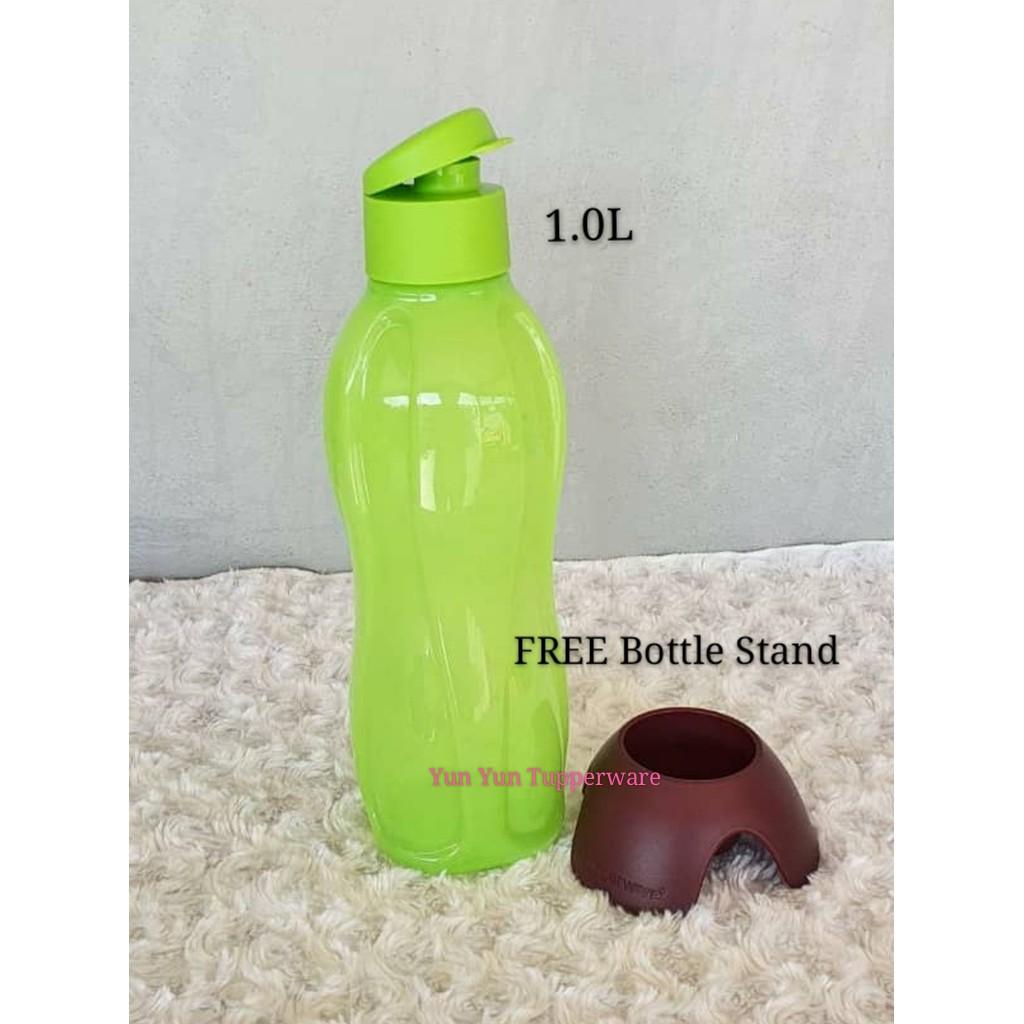 Tupperware Eco Bottle 1L Flip Top (1 PC) Blue / Green / Yellow + FREE Bottle Stand