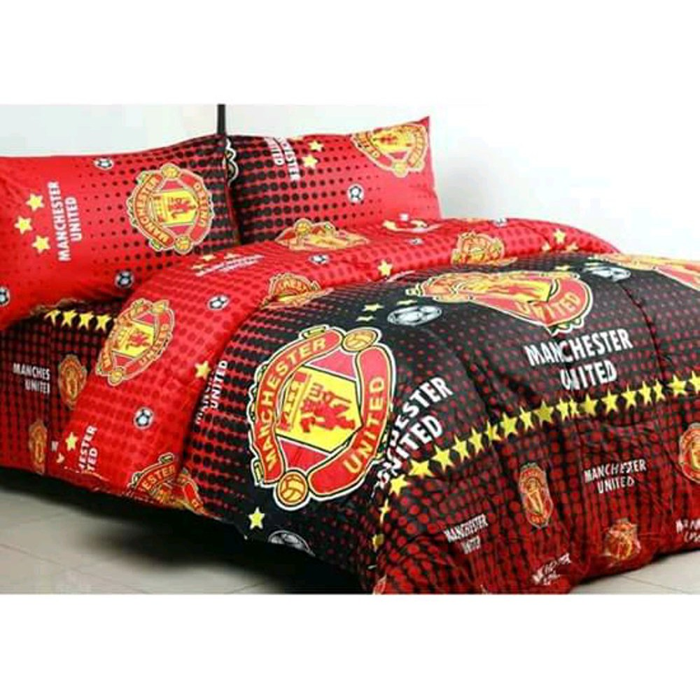 Cotton Bed Sheet Motifs For Adults And Children Manchester United Local Cotton Bed Linen Cheap Ball Motif Shopee Malaysia