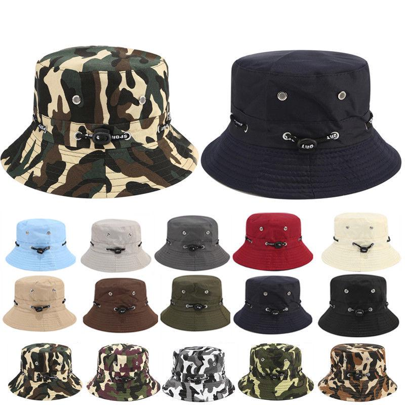 d1ea8dc00e1b5 Unisex Bucket Hat Summer Travel Cap Casual Military Hunting Fishing Outdoor