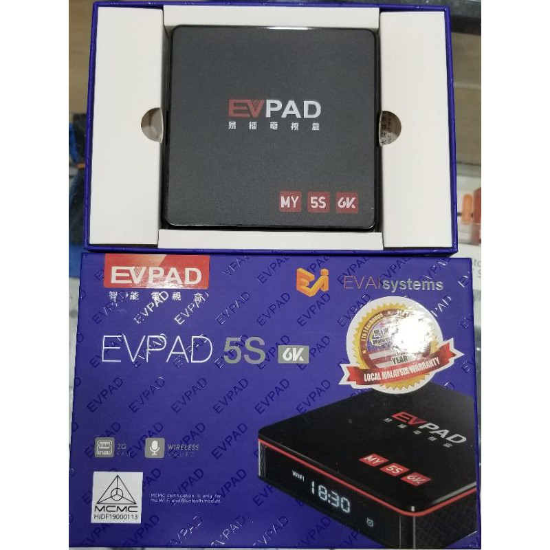 EV PAD 5S  TV BOX OVER 100 CHANNEL INCUDED WIRELESS VOICE CONTROL 1YEAR WARRANTY SET ONLY