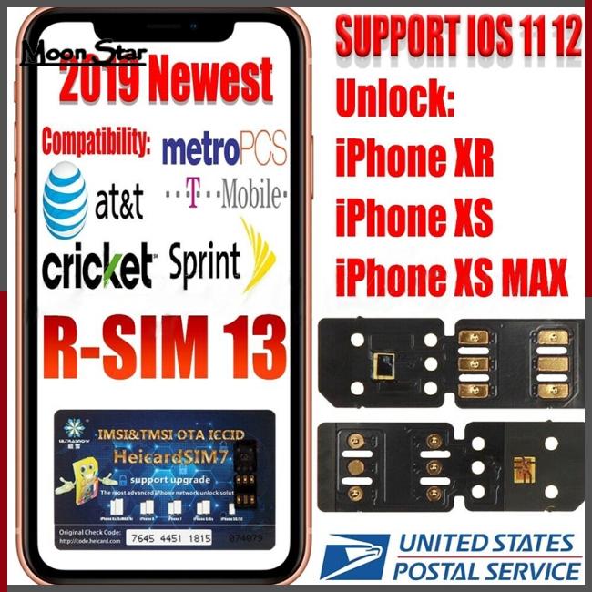 RSIM 13 Nano Unlock Sim Turbo Card fits iPhone XS XS Max XR GPP R iOS 12 11  R 4G