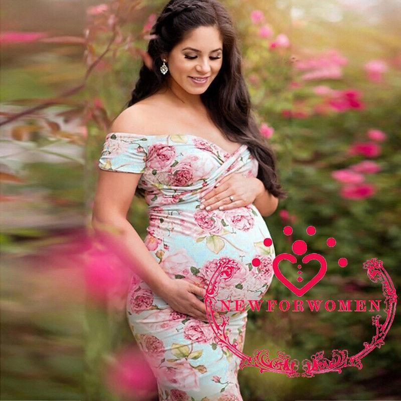 Women Maternity 3//4 Sleeve Crew Neck Breastfeeding Nursing Lace Bodycon Dress X#