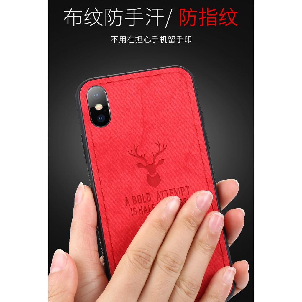 Samsung Galaxy Note 8/Note 9 Deer Head Pattern Soft cloth +TPU Shockproof  Shell