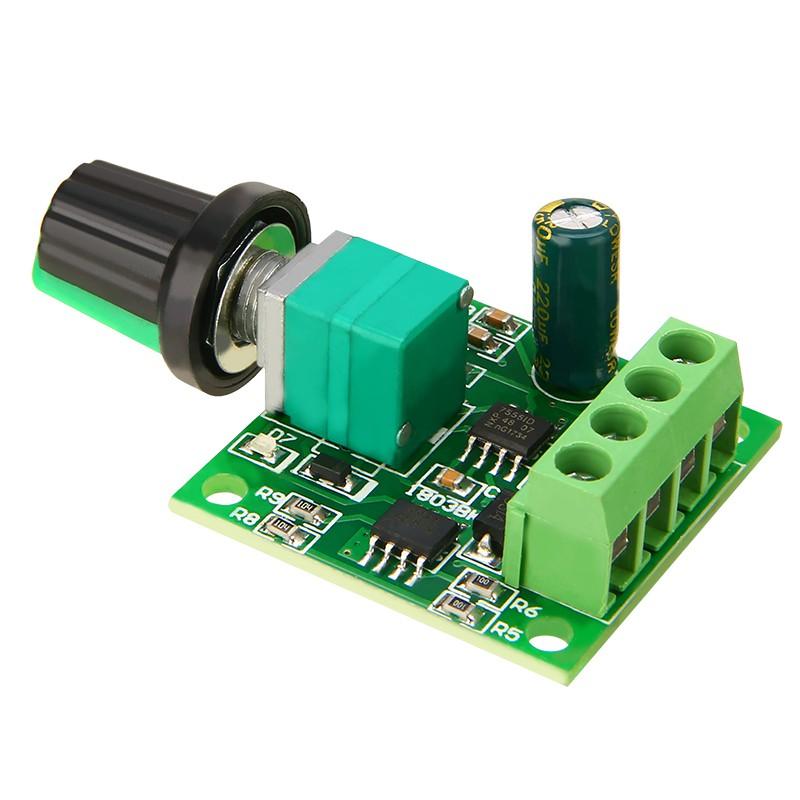 DC Motor 1.8V 3V 5V 6V 12V PWM Speed Controller 2A Potentiometer Knob Switch DIY
