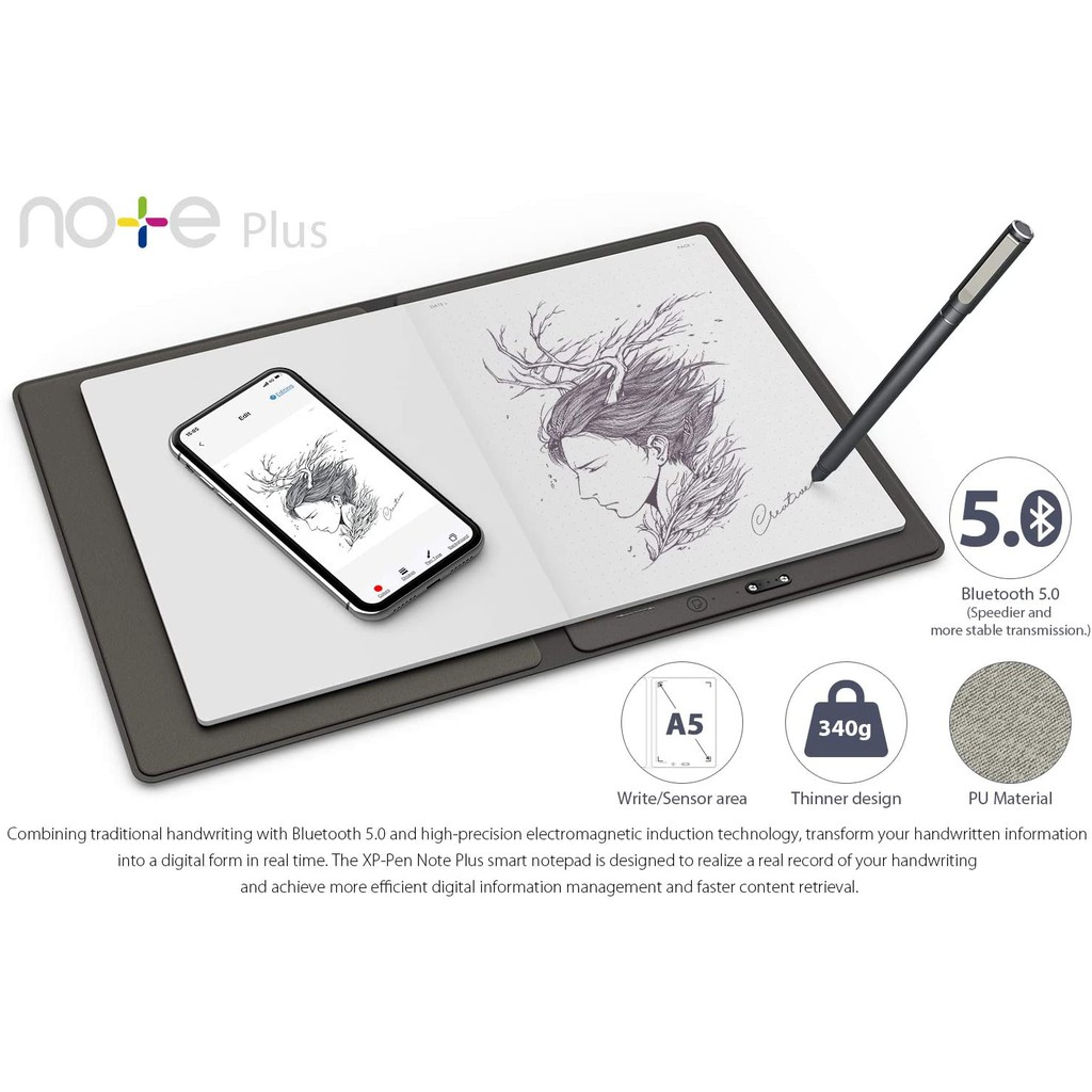 XP-PEN Note Plus Smart Notepad for Digital Writing and Sketching