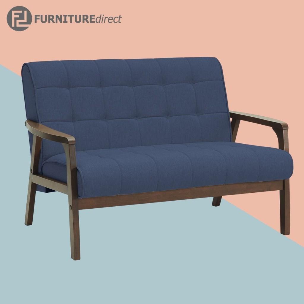 Furniture Direct TASCO sofa 2 seater solid wood sofa with fabric and PU cushion