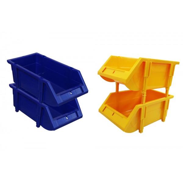 Toyogo 24cm Stackable Industri Plastic Crate