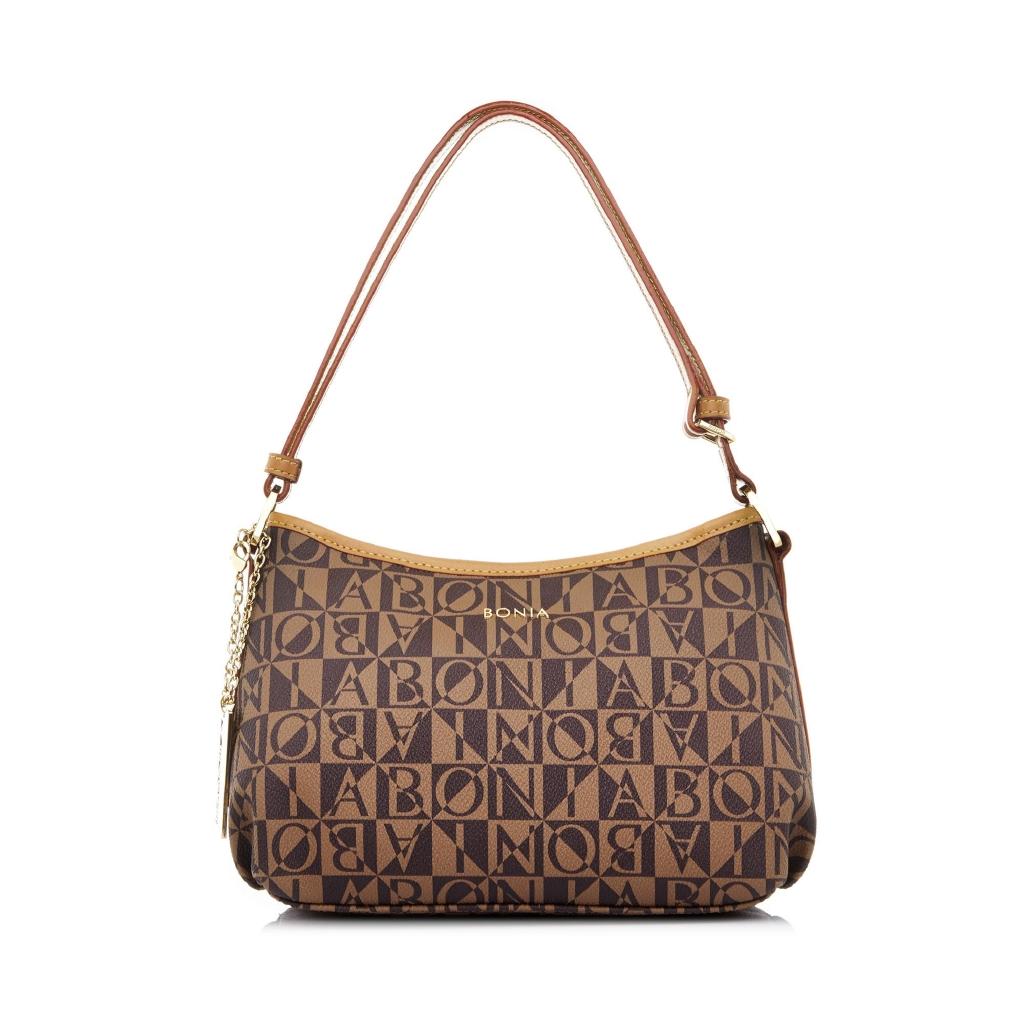 Bonia Caia Shoulder Bag Dark Brown