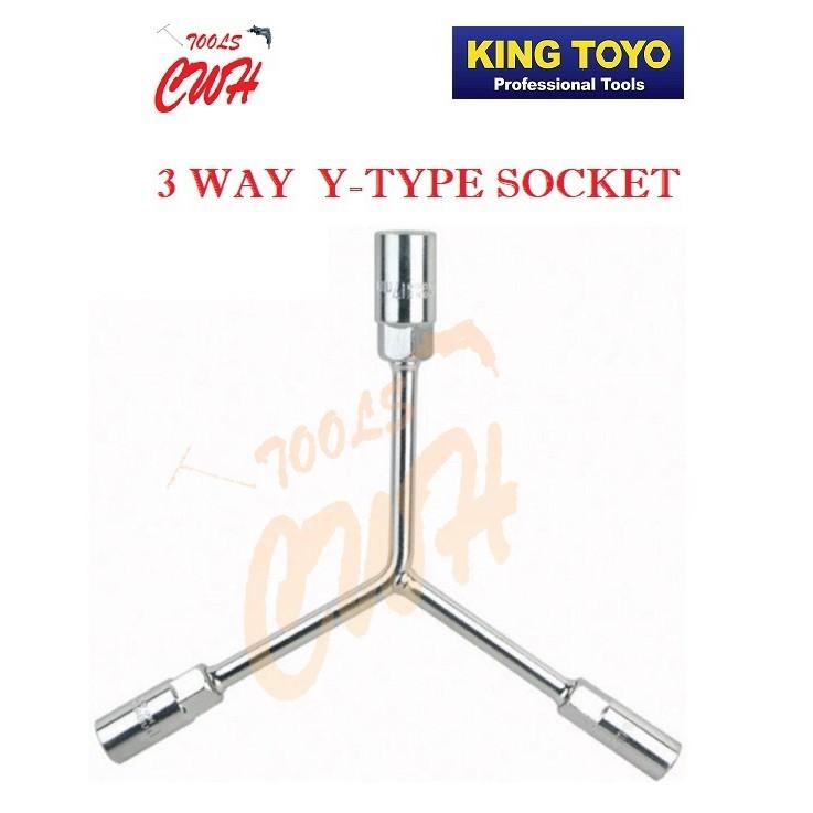 KTYTS-XXXXX KING TOYO 8MM-17MM 3 WAY Y-TYPE SOCKET VARIABLE SIZE           ----------------STANLEY M10 MAKITA SKC KTC DE