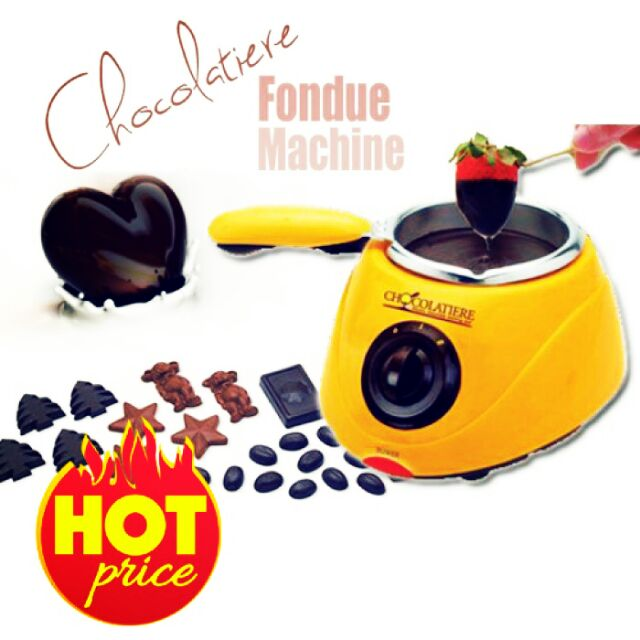 Hot Sellingchocolate Melting Pot Chocolate Fondue Yellow Color