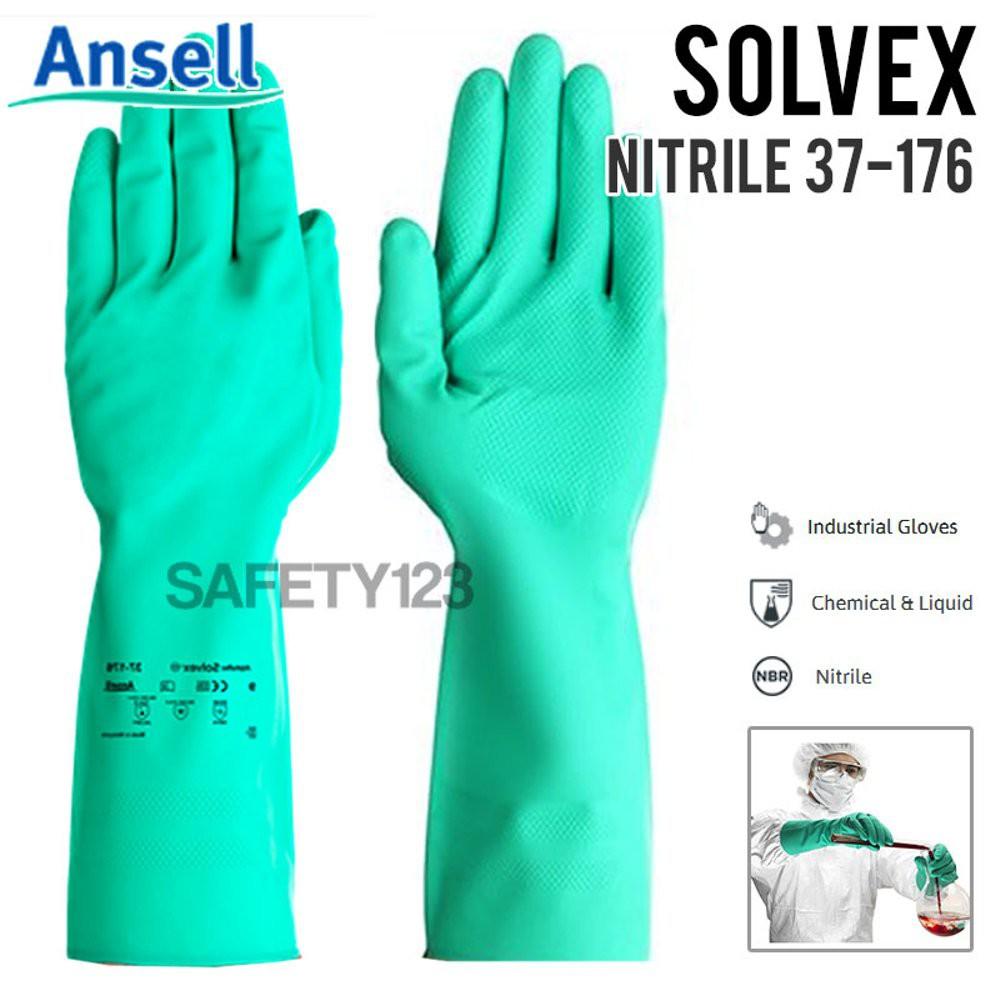 Ansell Nitrile Multipurpose Glove Sol-Vex ® 37-176 per pair | Shopee Malaysia