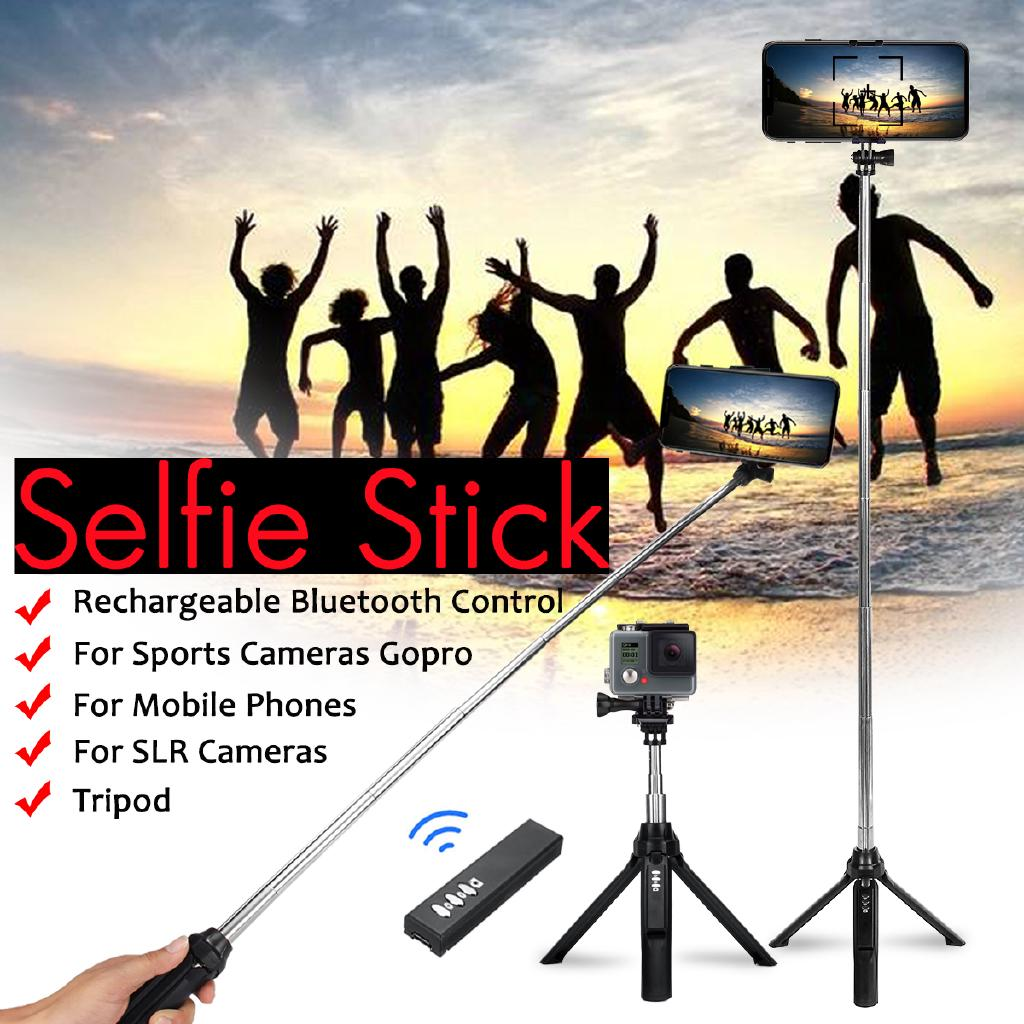 4 in 1 bluetooth Remote Handheld Selfie Stick Tripod for