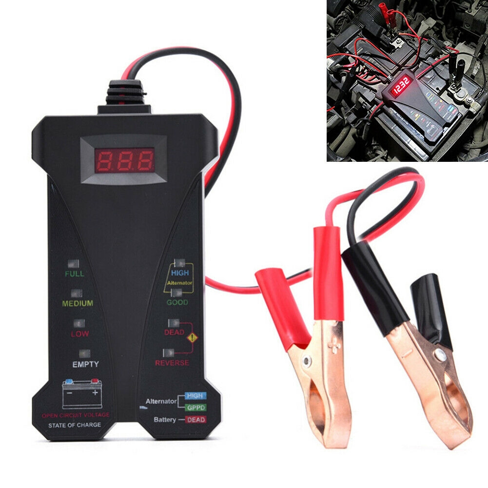 Analyzer With LCD Display Alternator Voltage Tester Vehicle Battery