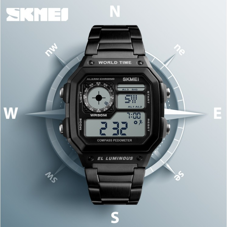 SKMEI Electronic LED Digital Wristwatches Swim Students Sports Watches  2ddcbc3772