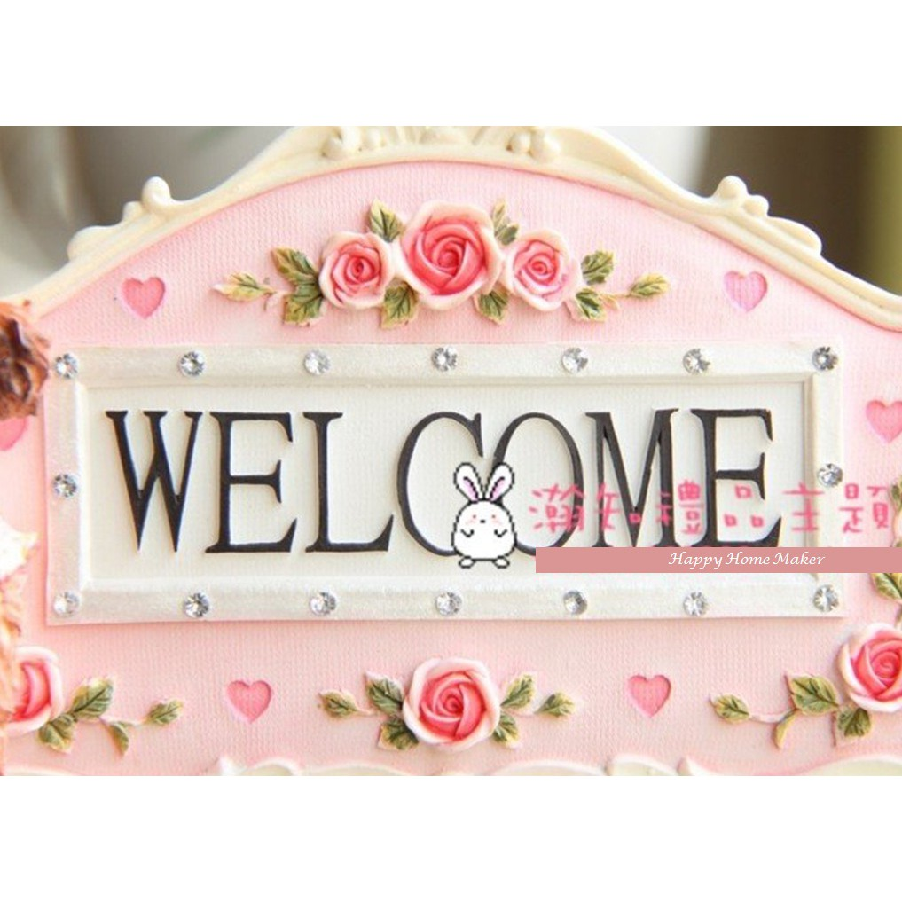"""""""Welcome"""" Desk Decoration - Poodle Teddy Dog"""