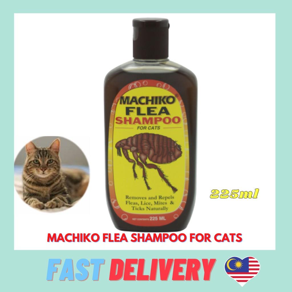 MACHIKO  Flea Shampoo for Cats / Syampu Kucing utk Pembasmi Kutu 225ML