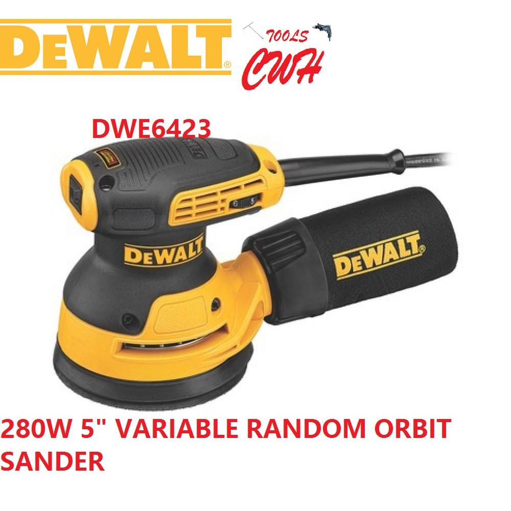 "MADE IN MEXICO DEWALT DWE6423 280W 125MM (5"") RANDOM ORBIT SANDER WOOD SANDING DWE 6423 WORKPRO GEX125 JOUSTMAX JST61250"