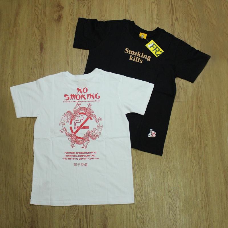 🐇ready stock 🐇FR2 Smoking Kills Casual Cotton fxxking rabbits  Short-Sleeved T-Shirt