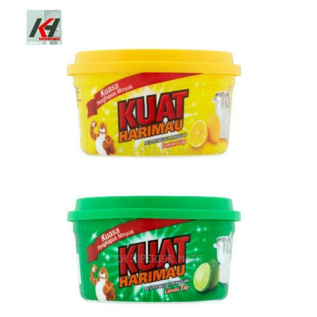 Kuat Harimau Dishwashing Paste - Lime Zap (200g/400g/800g) / Lemon Zap (200g/400g/800g)