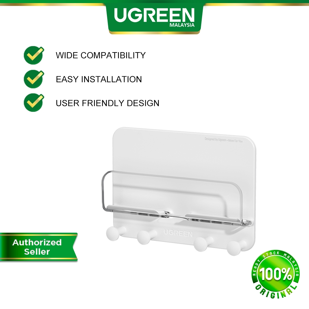 UGREEN Wall Mount Mobile Phone Tablet Holder Stand and Cable Management